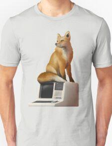 The Fox on a Computer Unisex T-Shirt