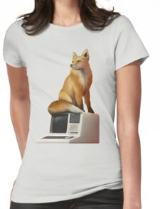 The Fox on a Computer Womens Fitted T-Shirt