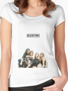 black pink 5 Women's Fitted Scoop T-Shirt