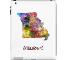 Missouri US state in watercolor iPad Case/Skin