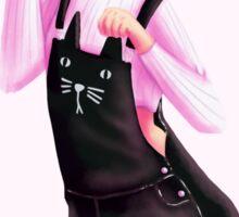 Marinette: Kitty Overalls Edition ;3 Sticker
