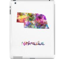 Nebraska US state in watercolor iPad Case/Skin