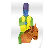 An old man of nepal and his horse Poster