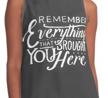Remember (White Text) Contrast Tank
