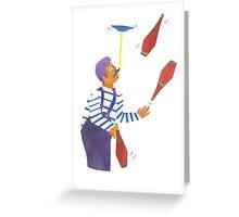 Brian The Circus Perfomer Greeting Card