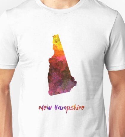 New Hampshire US state in watercolor Unisex T-Shirt