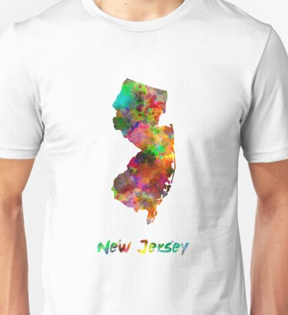 New Jersey US state in watercolor Unisex T-Shirt