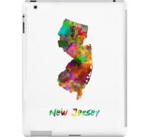 New Jersey US state in watercolor iPad Case/Skin