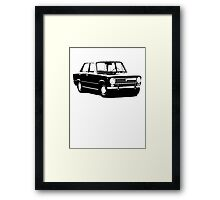 Fiat 124 Saloon Framed Print