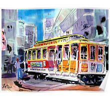 Trolley Turn Around San Francisco Poster
