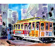 Trolley Turn Around San Francisco Photographic Print
