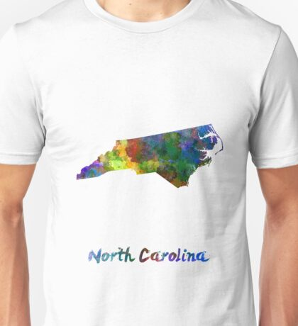 North Carolina US state in watercolor Unisex T-Shirt