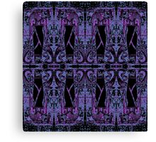 Egyptian Priests and Cobras Deep Purple II Canvas Print