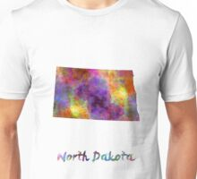 North Dakota US state in watercolor Unisex T-Shirt
