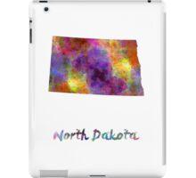 North Dakota US state in watercolor iPad Case/Skin