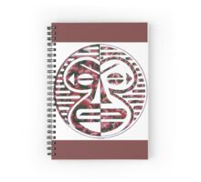 Tribal monkey mask - yinyan Spiral Notebook