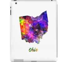 Ohio US state in watercolor iPad Case/Skin