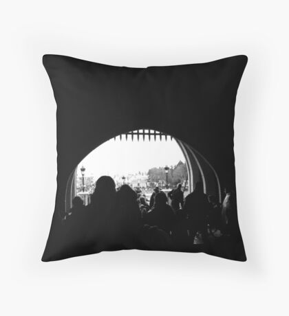 A Castle Point of View Throw Pillow