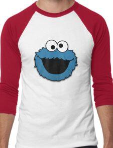 Cookie Monster Muppet Men's Baseball ¾ T-Shirt
