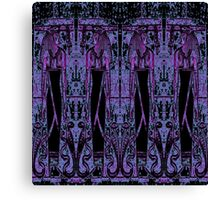 Egyptian Priests and Cobras Deep Purple III  Canvas Print