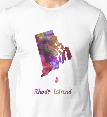 Rhode Island US state in watercolor Unisex T-Shirt