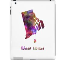 Rhode Island US state in watercolor iPad Case/Skin