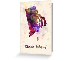 Rhode Island US state in watercolor Greeting Card