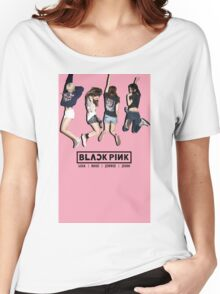 black pink 8 Women's Relaxed Fit T-Shirt