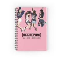 black pink 8 Spiral Notebook