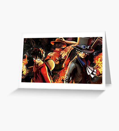 one piece- Epic luffy Ace Sabo one piece Greeting Card