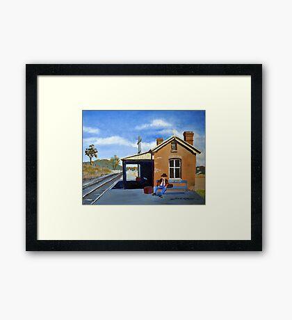 WAITING- STUART TOWN NSW Framed Print