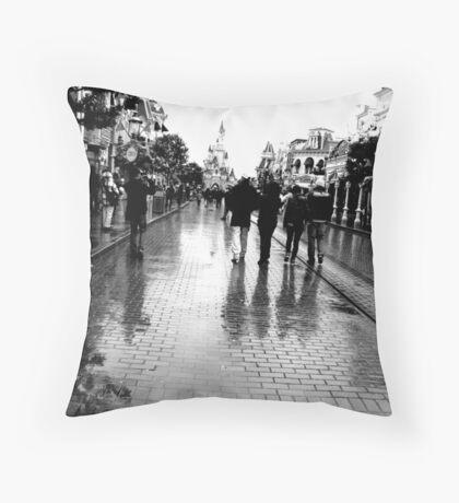 Main Street, Paris Throw Pillow