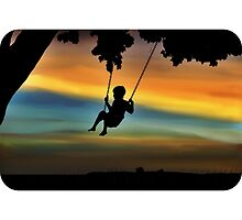 Boy on a Swing by ShortStckStitch