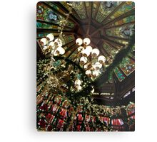 Ceiling Decor - Red and Green Metal Print