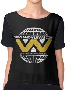 The Weyland-Yutani Corporation Globe Chiffon Top