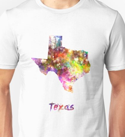 Texas US state in watercolor Unisex T-Shirt