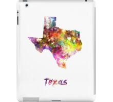 Texas US state in watercolor iPad Case/Skin