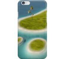 Eco footprint shaped island iPhone Case/Skin