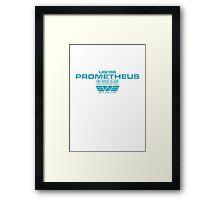 Prometheus - Weyland Corp - Crew Framed Print