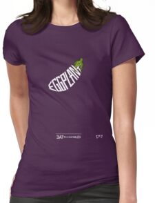 EGGPLANT - - - - - - EAT YOUR VEGETABLES  Womens Fitted T-Shirt
