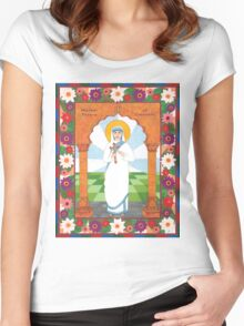 Mother Teresa of Calcutta Icon Women's Fitted Scoop T-Shirt