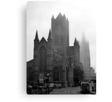 Foggy Morning in Ghent Canvas Print