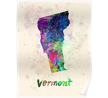 Vermont US state in watercolor Poster