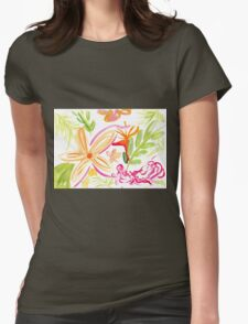 Tropical Plants Watercolour Illustration Womens Fitted T-Shirt