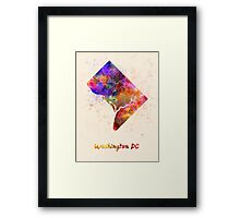 Washington DC US state in watercolor Framed Print