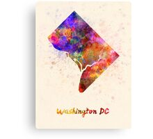 Washington DC US state in watercolor Canvas Print
