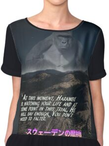 Harambe is always watching (inspirational) Chiffon Top