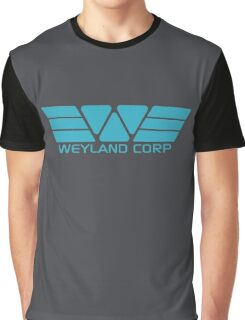 Weyland Corp logo - Alien - Blue Graphic T-Shirt