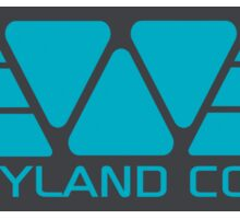 Weyland Corp logo - Alien - Blue Sticker