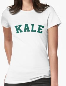 Kale University Funny Vegan Style Womens Fitted T-Shirt